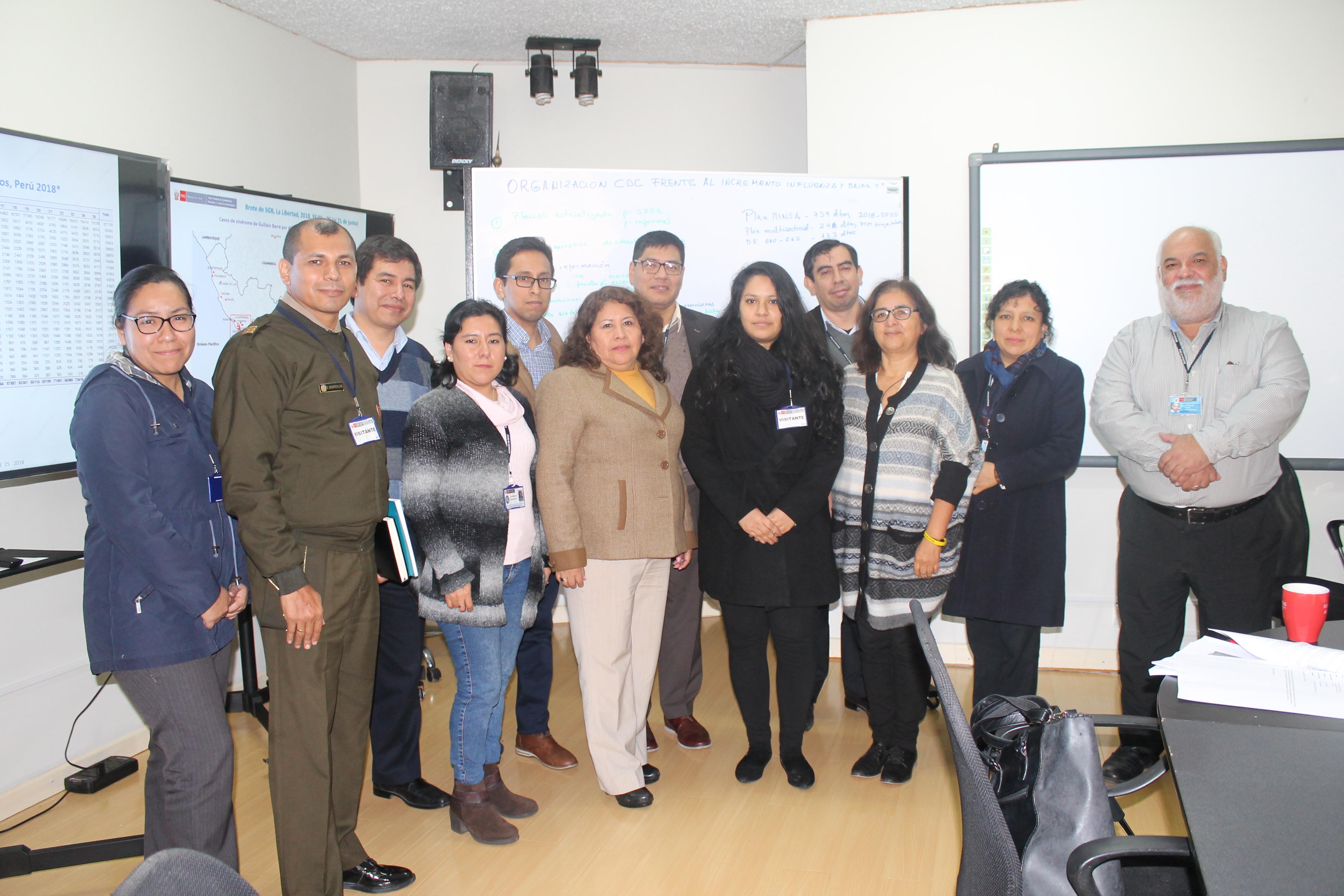 Dr. Luis Suárez Ognio se reunió en el CDC-MINSA con representantes del Instituto Geográfico del Perú.