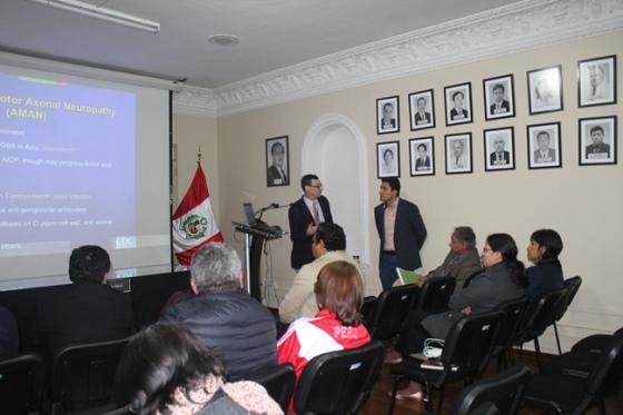 Especialistas del CDC USA y del Centro Nacional de Epidemiología, Prevención y Control de Enfermedades Perú intercambian experiencia sobre el Síndrome Guillain-Barré