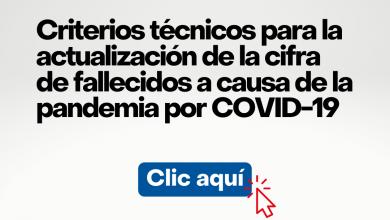 Photo of Criterios técnicos para actualizar la cifra de fallecidos por COVID-19 en el Perú